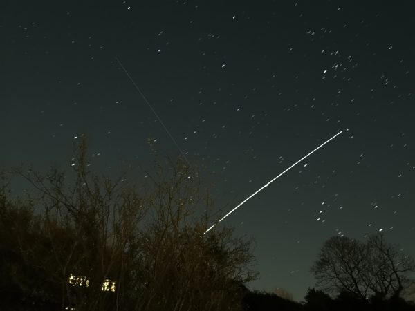 The ISS and satellites and stars from my back Garden in Gateshead